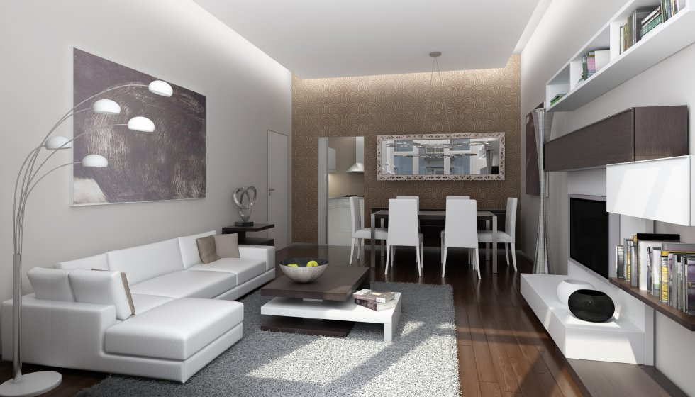 Interior design of furnished apartment house